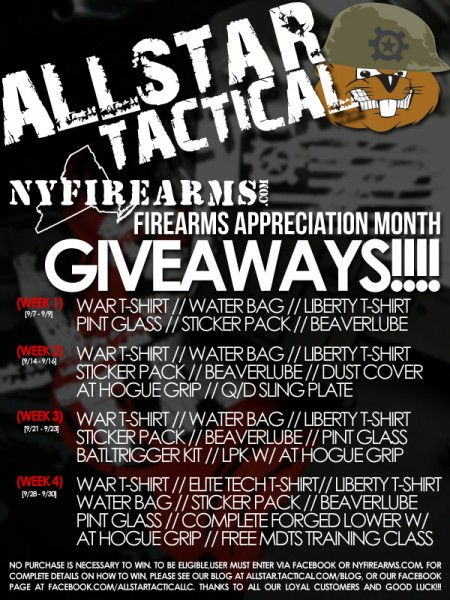 Allstar Tactical Firearms Appreciation Month Giveaways