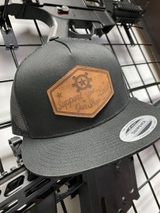 Leather Support Your Local Gun Shop Hats