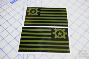 AT Flag Sticker OD Green