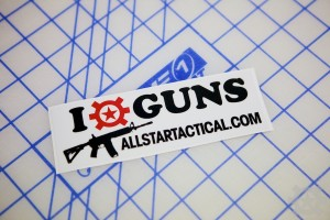 AT I Heart Guns Sticker
