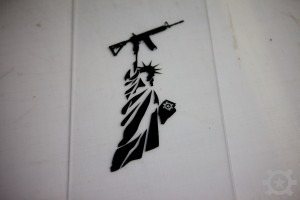AT Liberty Diecut Sticker Black