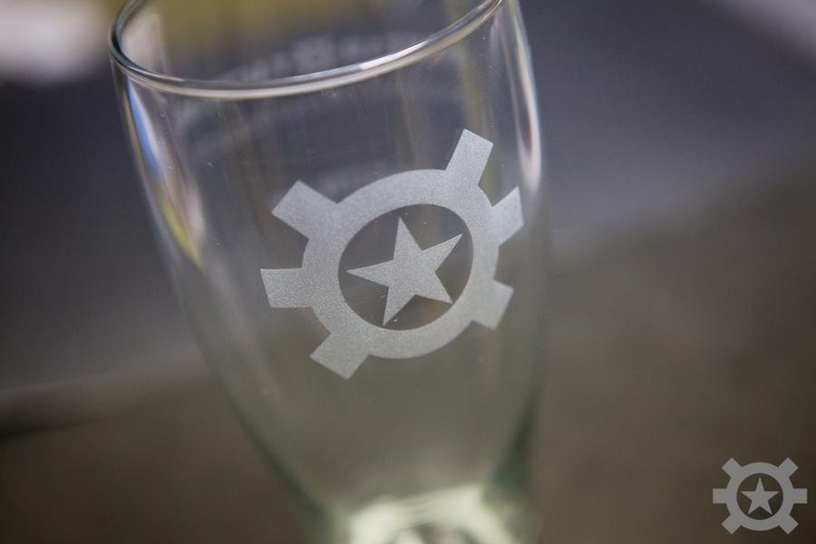 At Logo Pilsner Glass At Plsnr Logo Allstar Tactical