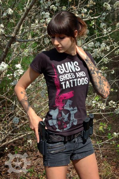 Guns Shoes And Tattoos Girls T Shirt At Shrt Gstats