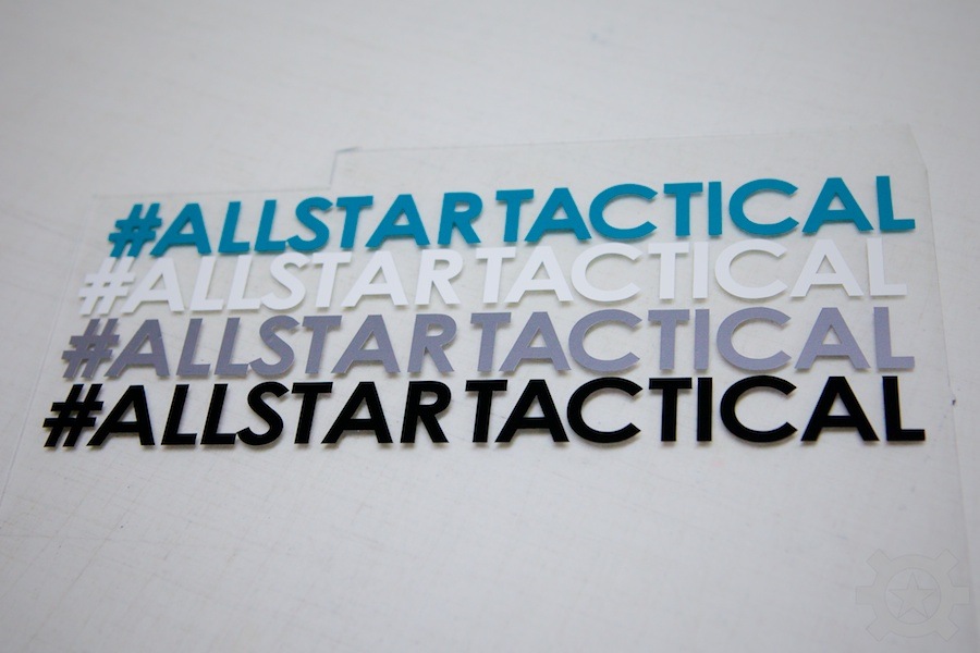 Allstar Tactical Hashtag Ssticker