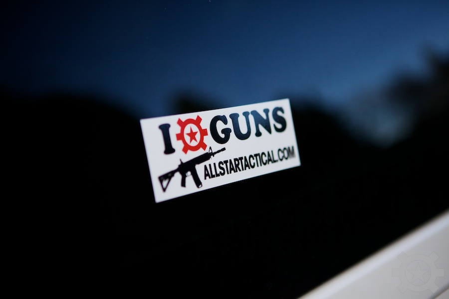 Allstar Tactical I Heart Guns Sticker