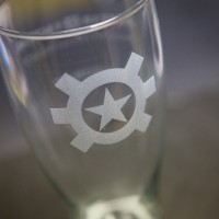 AT Logo Pilsner Glass