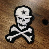 Skully Embroidered Patch